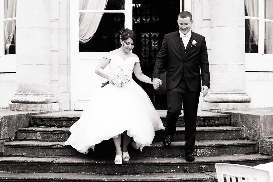 Photographe mariage Cambrai noir et blanc prestige