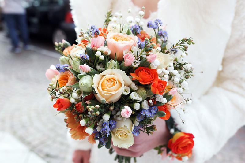 Le bouquet de la mariée à l'église de Mons