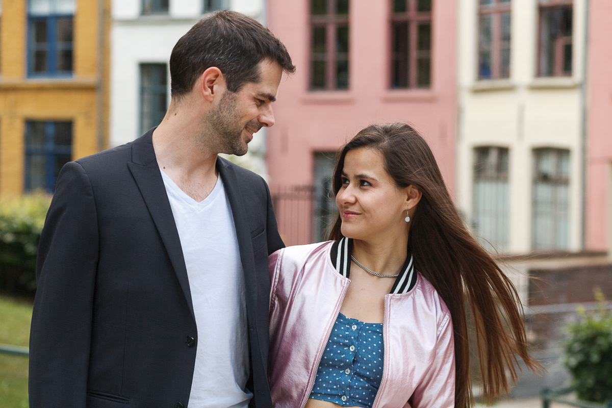 séance couple dans le Vieux Lille