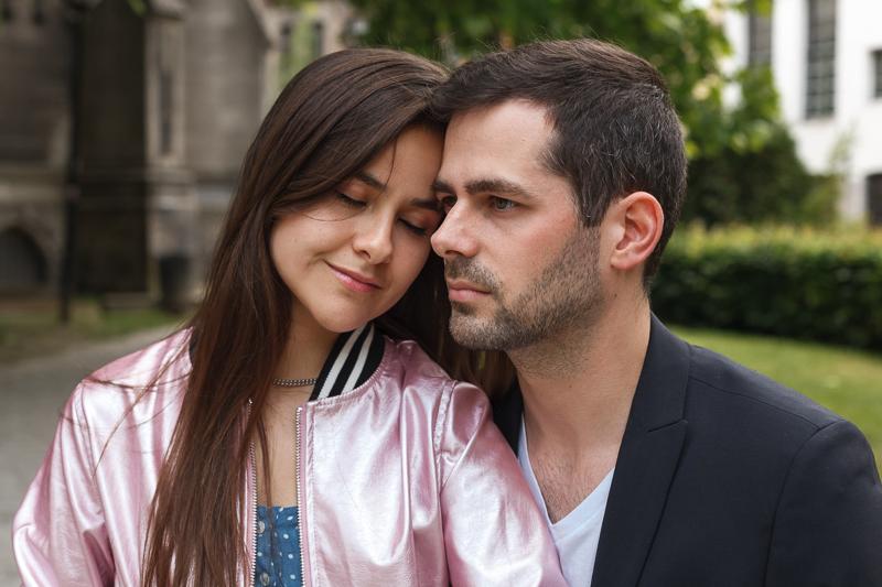 portrait de couple à Lille un soir d'été