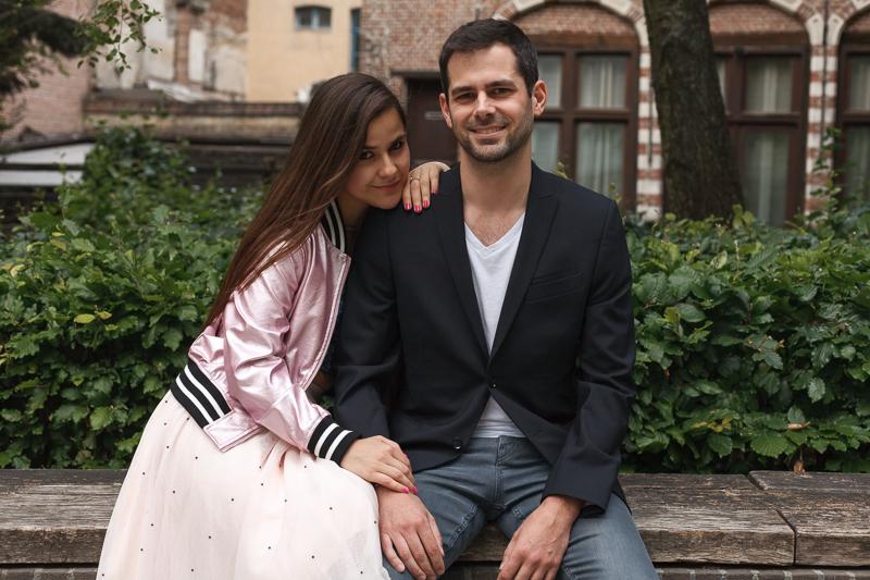 couple sur un banc dans le Vieux Lille