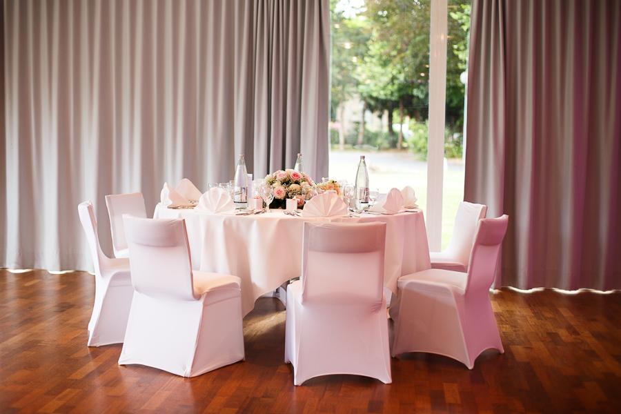 décoration des tables mariés château cambrai