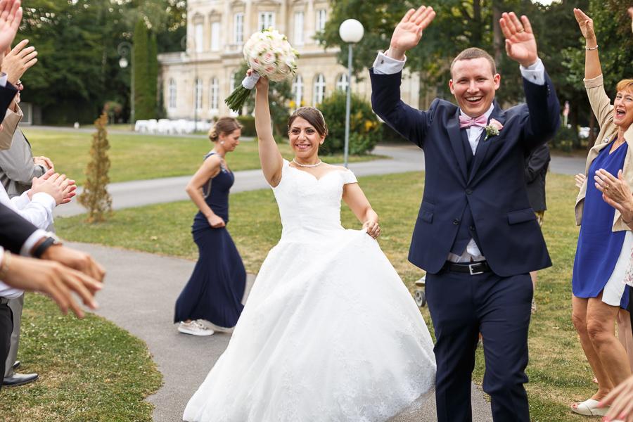 entrée des mariés dans la salle du château cambrai