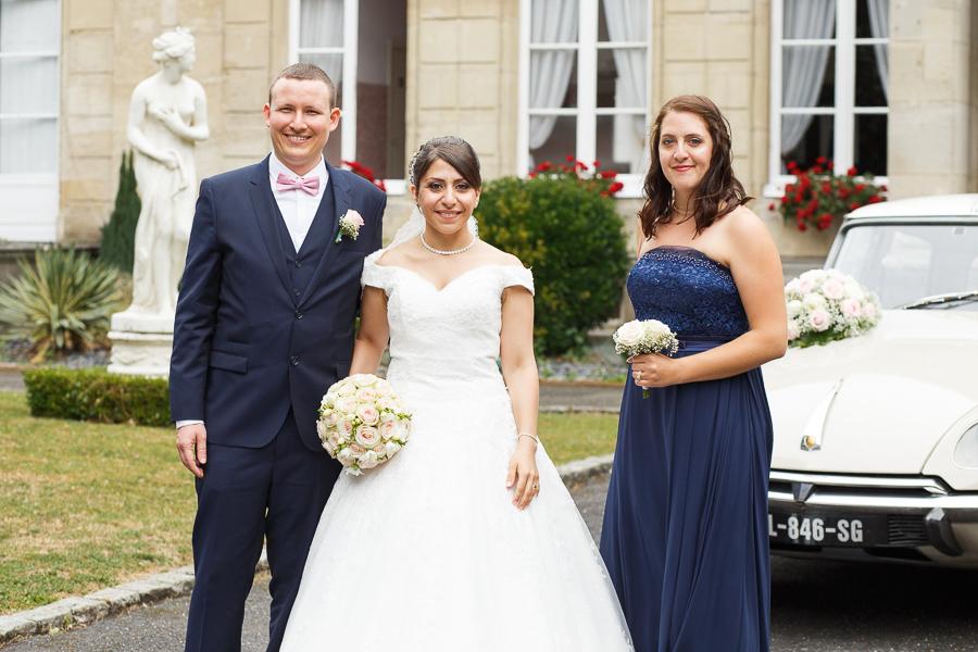 Mariés et témoins château La Motte Fénelon Cambrai