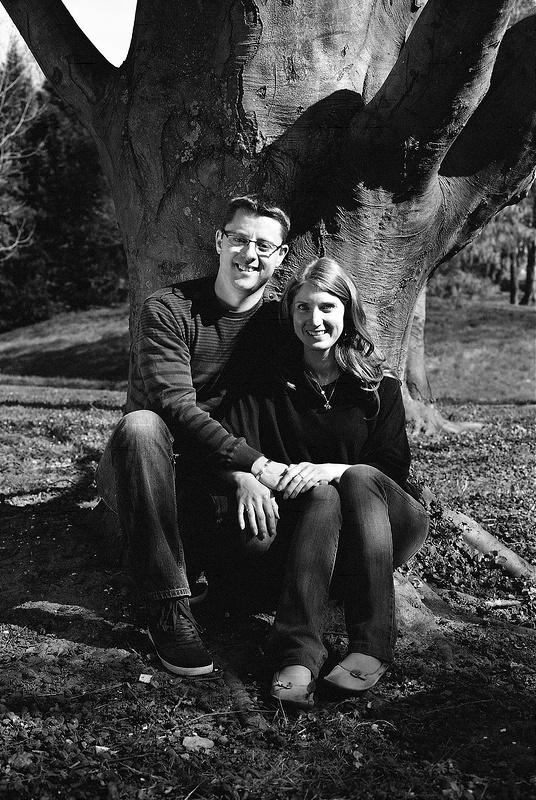 Portraits couples sur pellicule noir et blanc