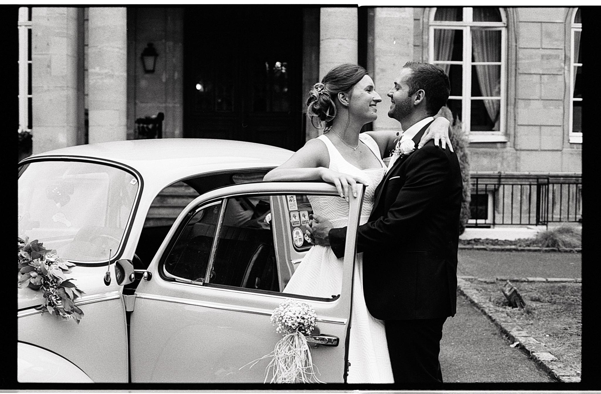 photo noir et blanc couple mariage Nord