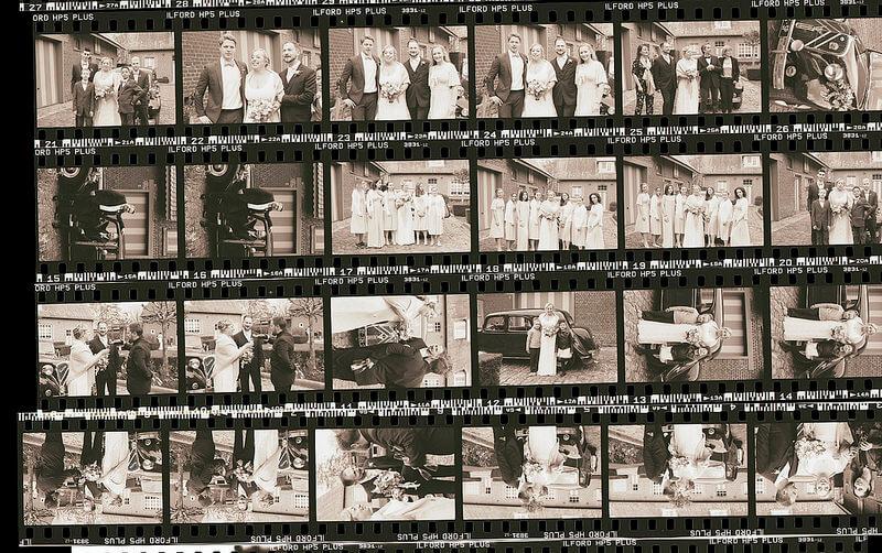 planche contact photographe noir et blanc