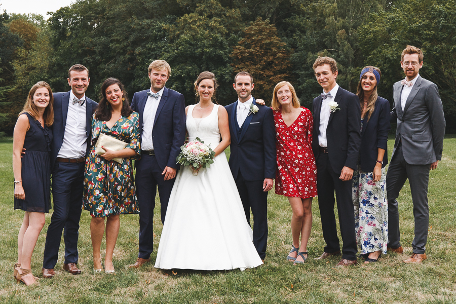 photo de groupe mariage mariés et jeunes couples photographe mariage Nord Lille Cambrai