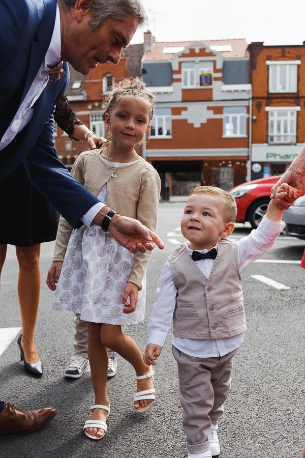 enfants d'honneur Comines photographe mariage famille Nord Pas de Calais Lille
