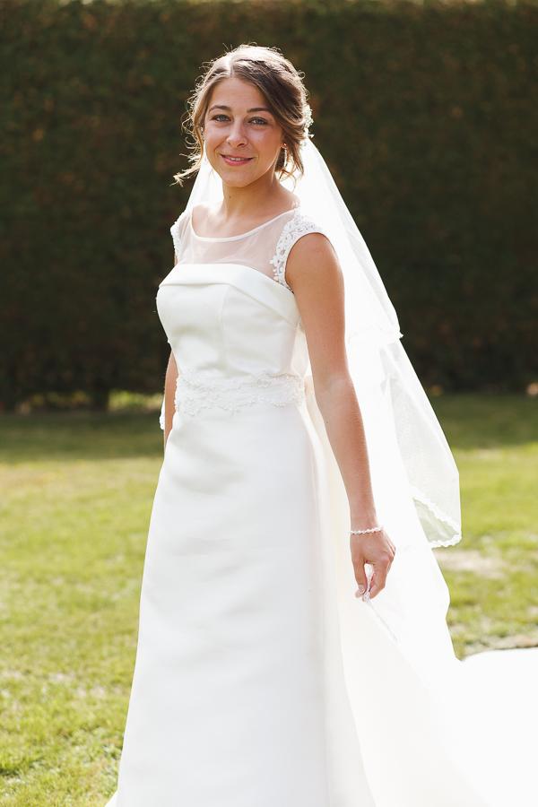 portrait de la mariée photographe mariage Comines Nord Lille