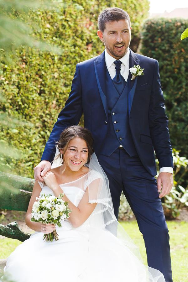 portrait des mariés avant cérémonies reportage photo mariage Nord Comines Roncq Bondues