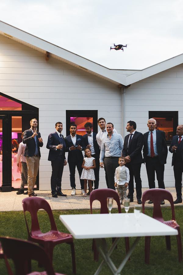 vin d'honneur Roncq pilote de drone reportage photo mariage Nord Lille Comines Bondues Linselles