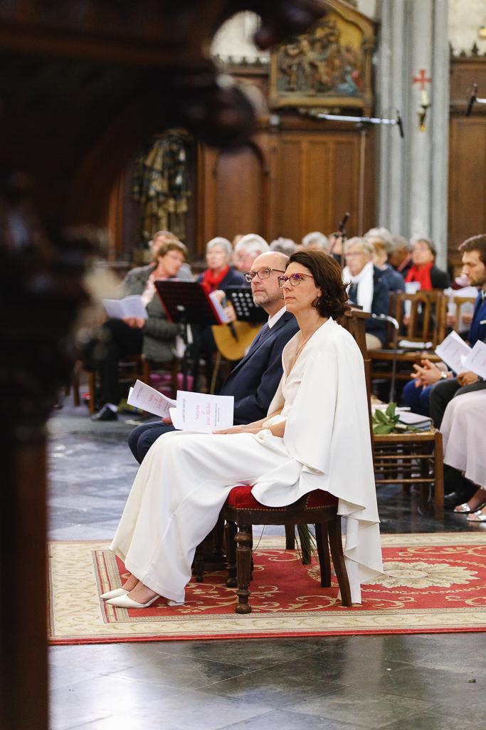 couple de mariés renouvellement des vœux de mariage église Saint Vaast Wambrechies Nord