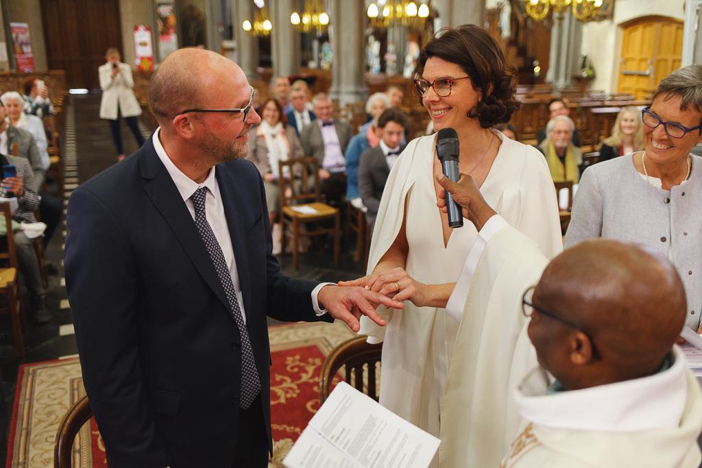 échange des alliances renouvellement des vœux mariage à Wambrechies
