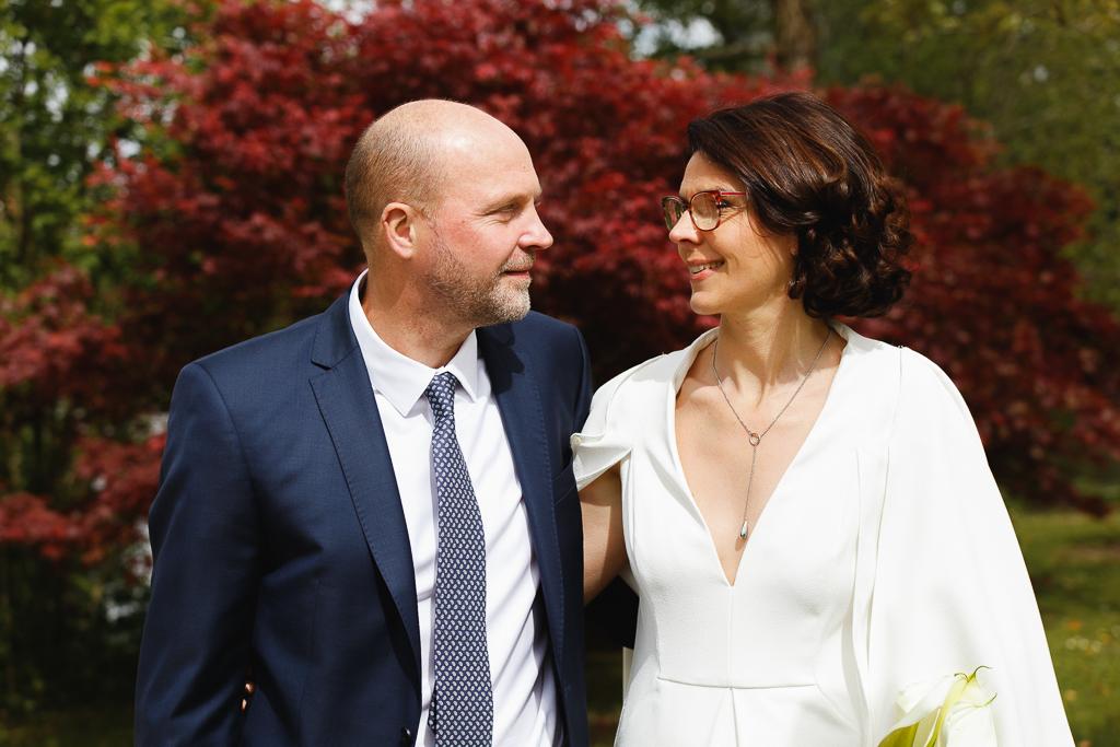 portrait de couple de mariés Wambrechies proche Lille