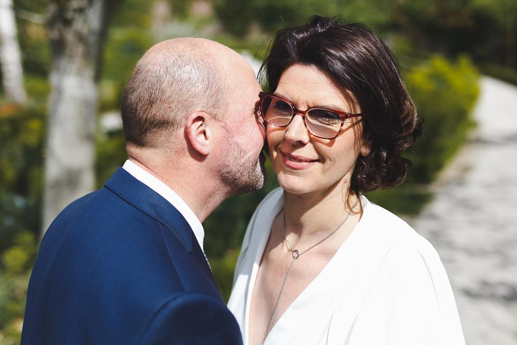 portrait rapproché du couple reportage mariage Wambrechies
