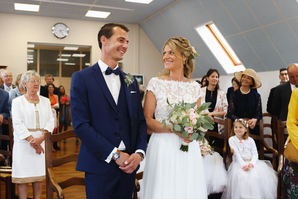 sourire mariés cérémonie civile mairie Condette Hauts de France
