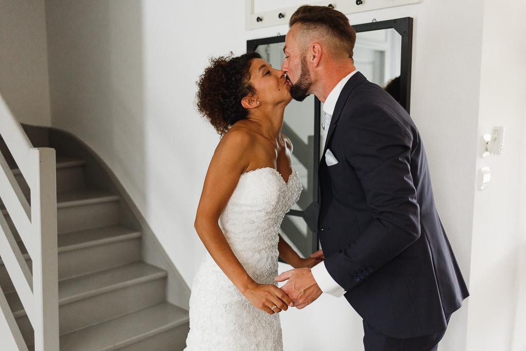 decouverte de la robe bisou futurs epoux mariage Hauts de France