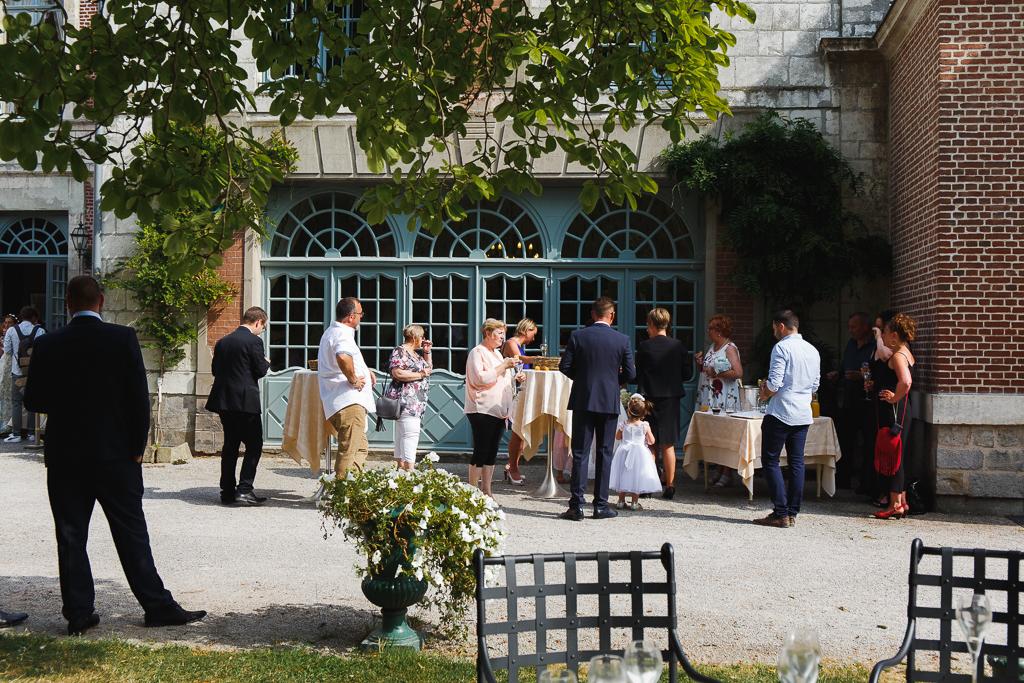 vin d honneur exterieur parc La Chartreuse Nord Pas de Calais Artois
