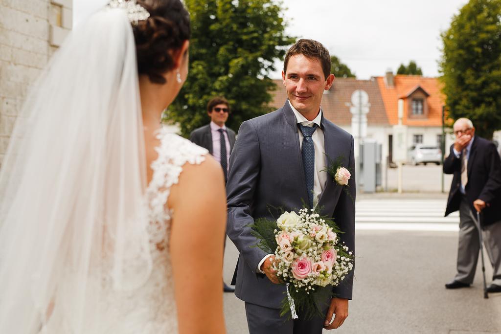 émotion découverte de la robe mariage à Licques Pas de Calais Trois Pays