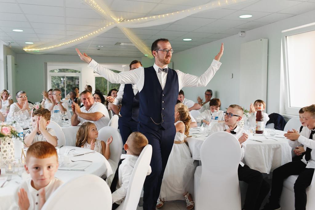 entrée mariés salle réception mariage Nord
