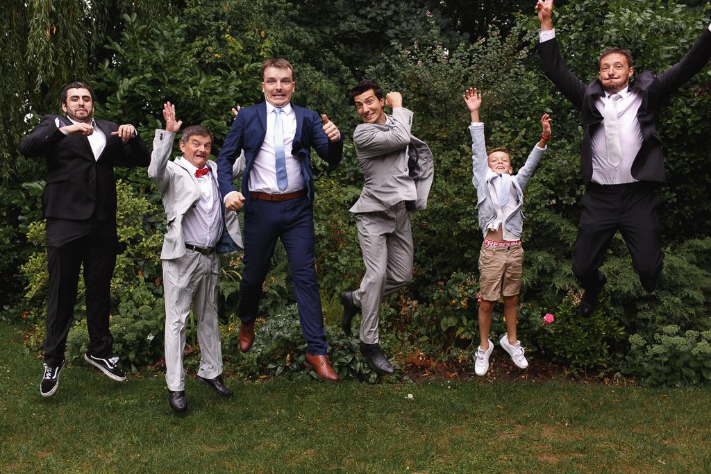 portrait groupe mariage fun le saut photographe Nord