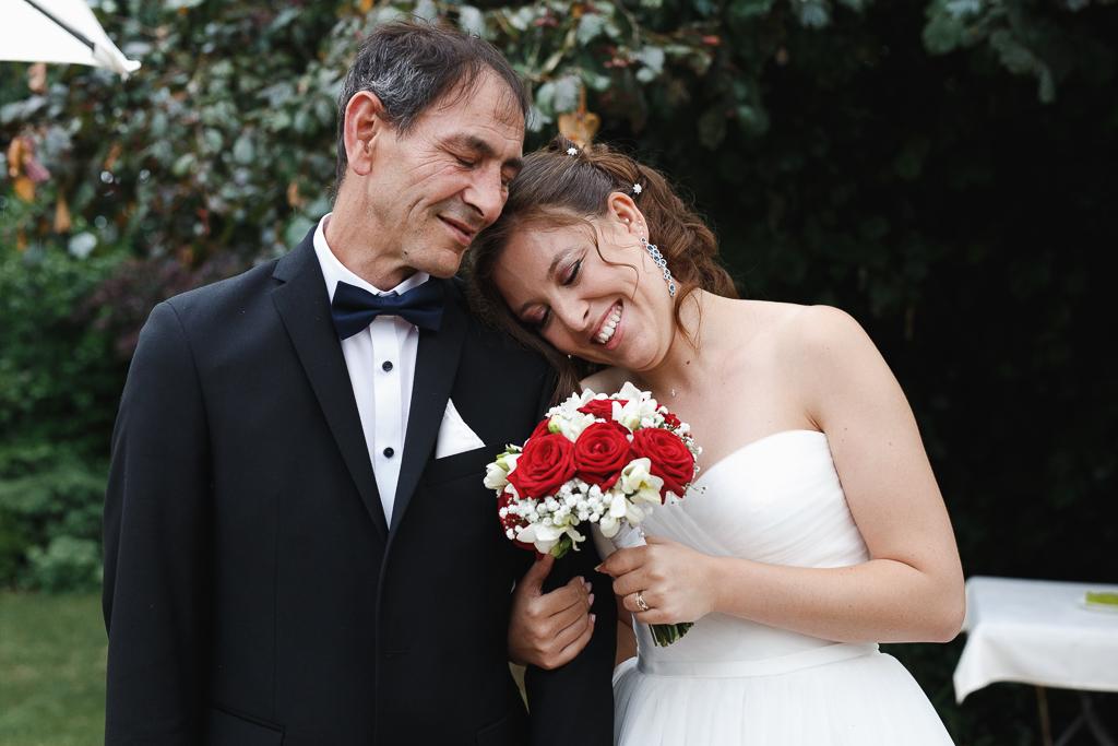 Fred Laurent photographe mariage pro Nord Lille Tourcoing Marcq en Barœul portrait mariée et père