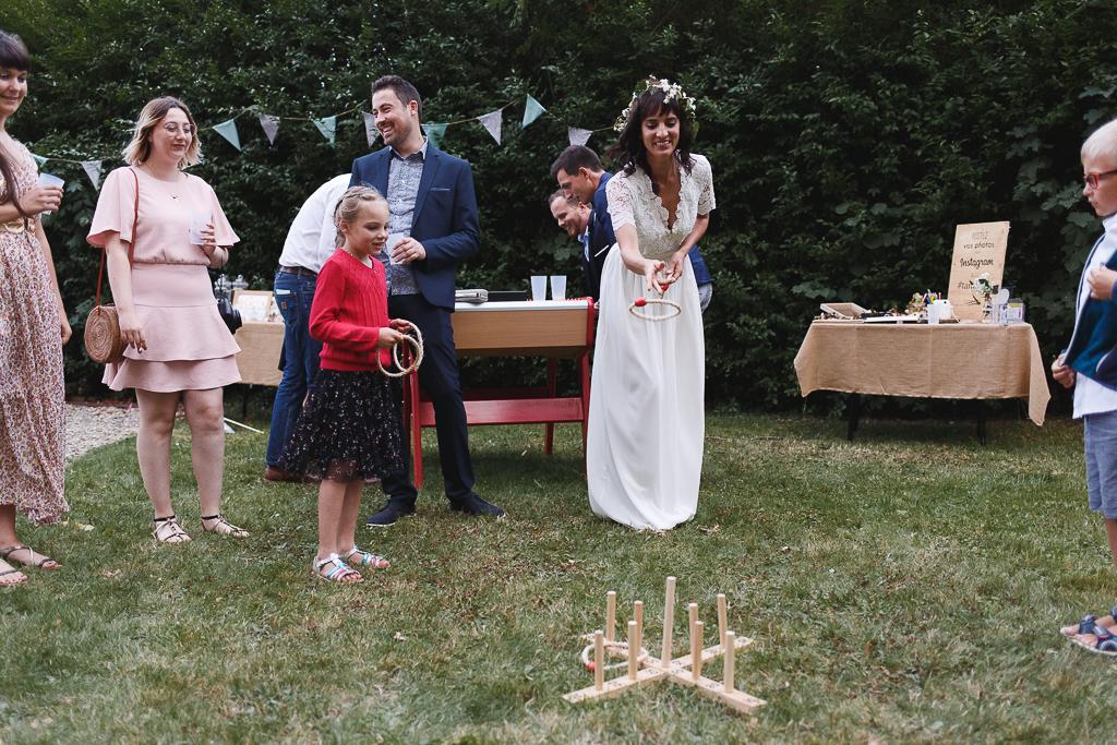 Jeux de société en extérieur jardin vin d'honneur mariage champêtre Belgique