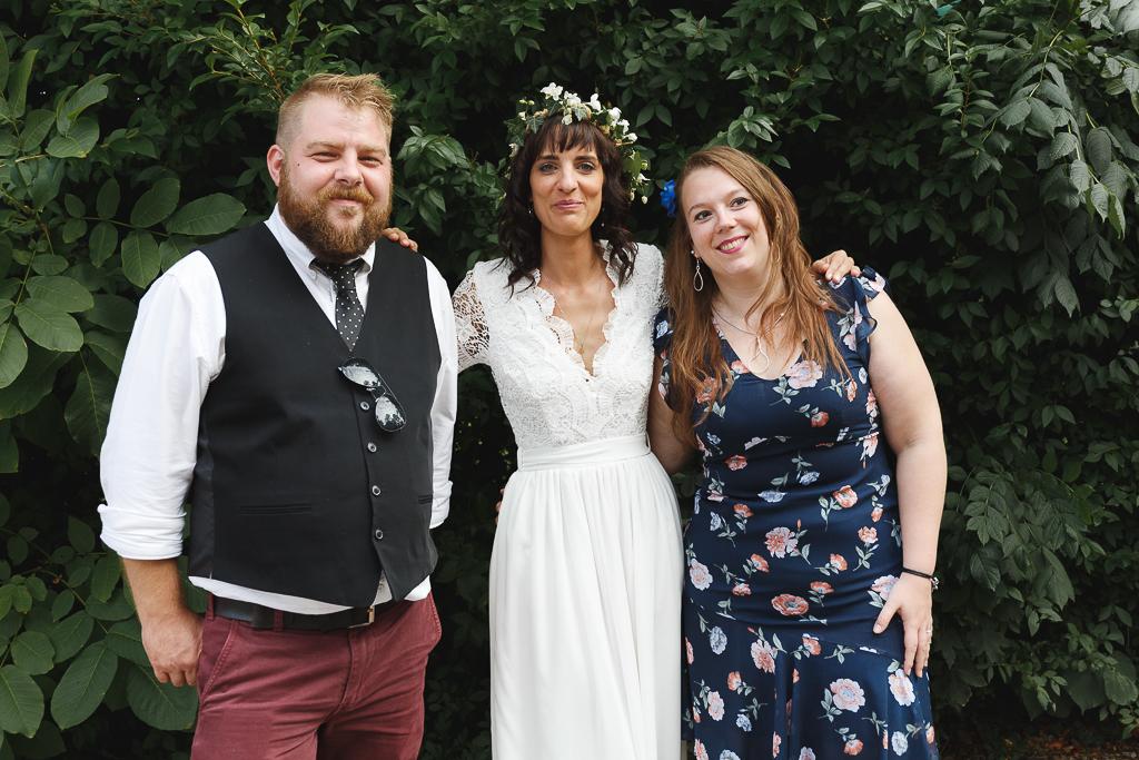 Portrait de la mariée et des témoins mariage Orchies Tournai