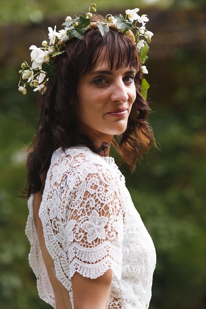 Portrait rapproché mariée 70-200 Sigma photographe mariage Nord