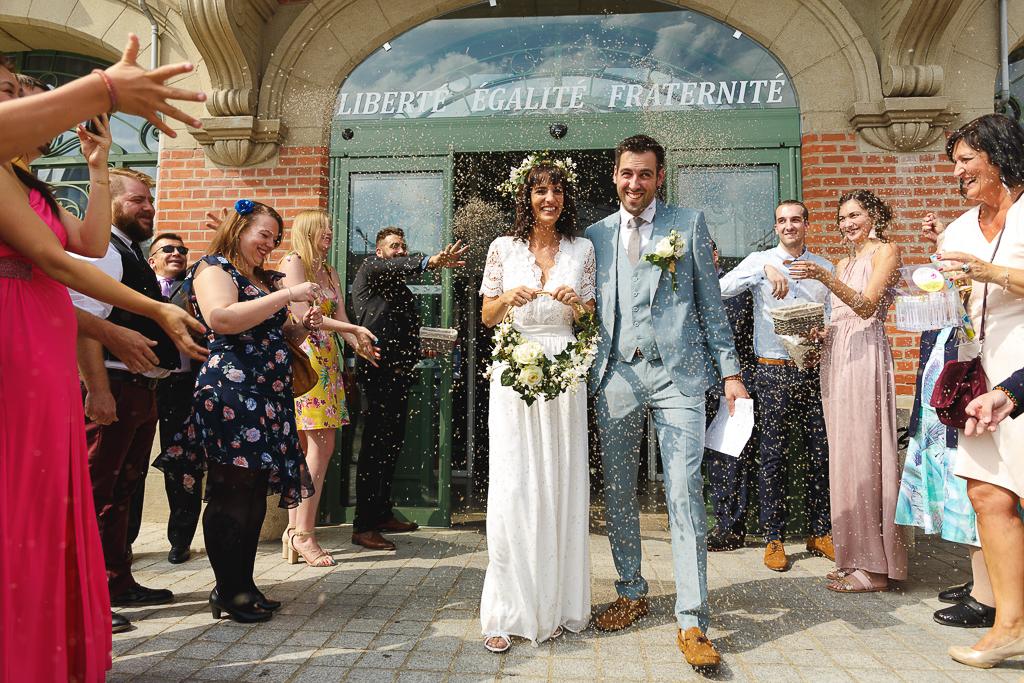 Mariage dans l'esprit guinguette à Tournai