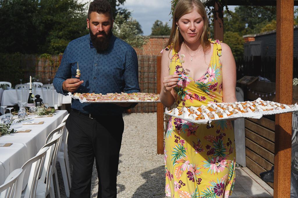 Petits fours vin d'honneur mariage en extérieur La ragotière