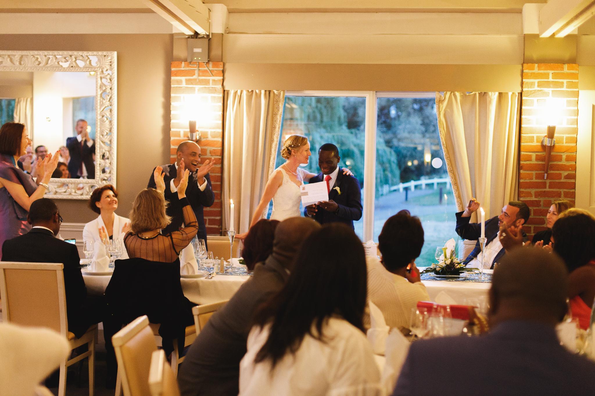soirée mariage Domaine de la Chanterelle Verlinghem proche Lille Nord-discours des mariés-reportage photo mariage Wambrechies