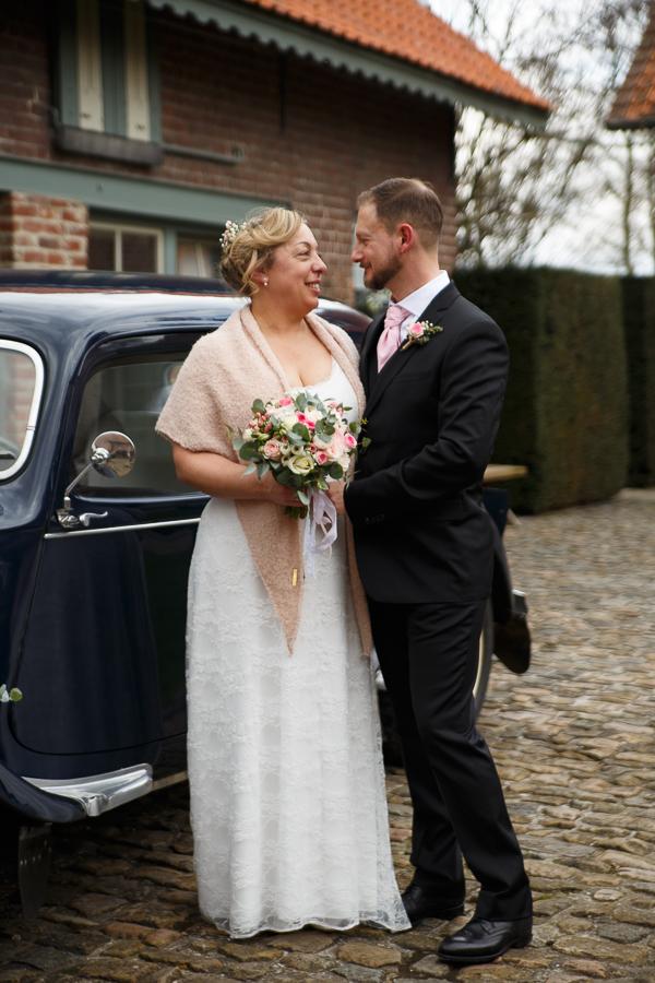 couple mariage au Domaine de Ronceval à Dottignies