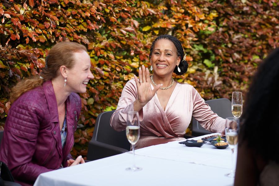 instant pendant vin d'honneur cocktail Molenhof mariage campagne belge