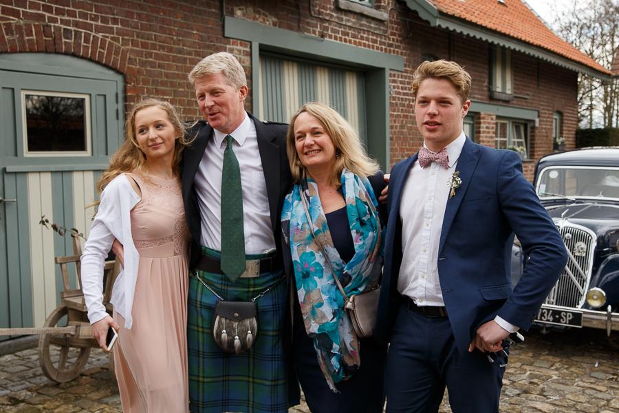 kilt au mariage domaine de ronceval belgique