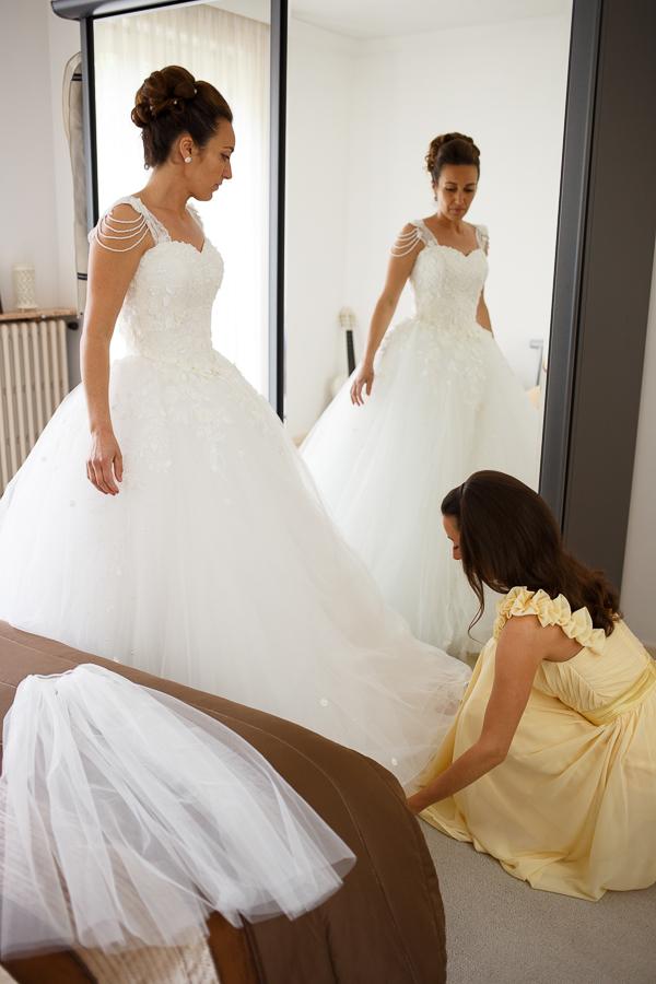 photo de la mariée habillage reportage mariage franco-américain