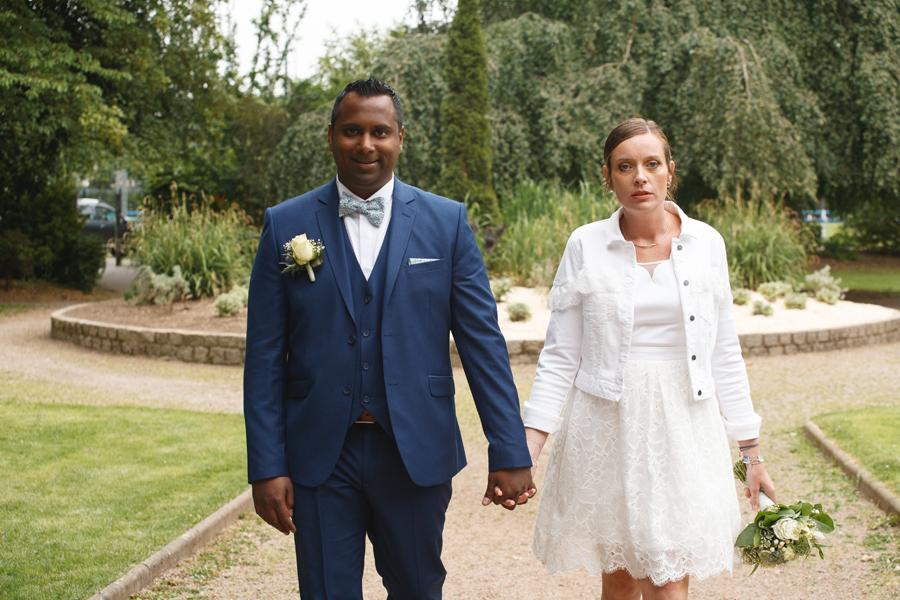 portrait couple parc photographe mariage Saint-André Marquette Wambrechies Lille