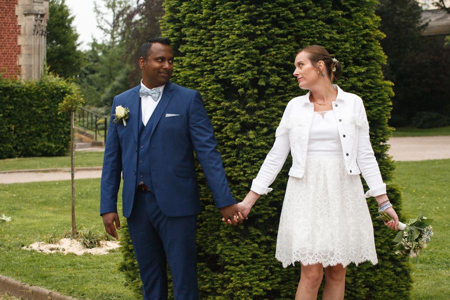 regard séance couple mariés parc photographe mariage Saint-André Marquette Wambrechies Lille