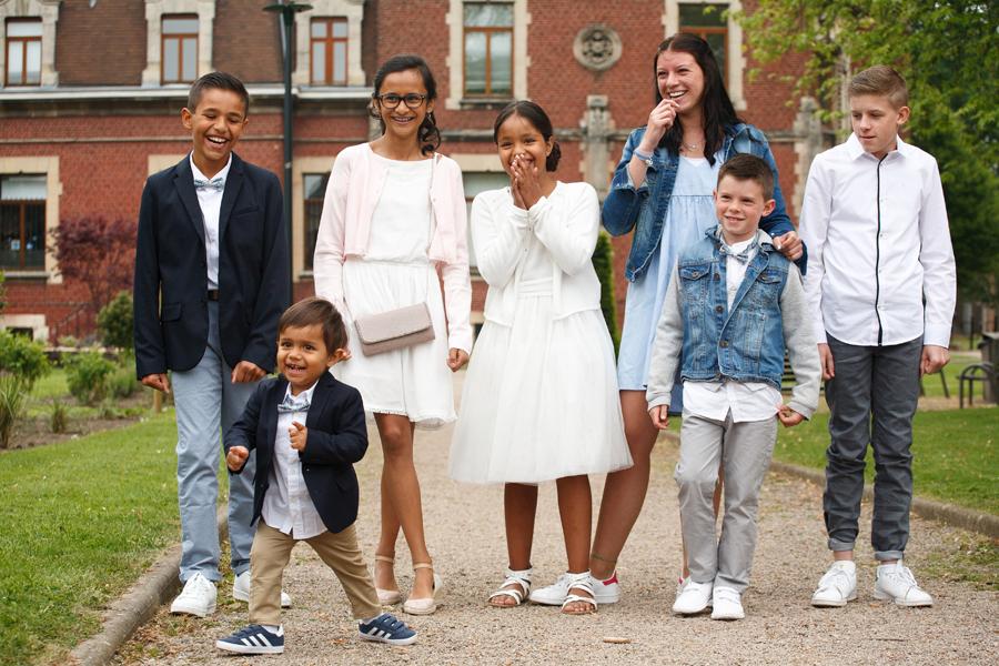 séance portrait sur le vif enfants parc proche Lille pas de danse photographe mariage