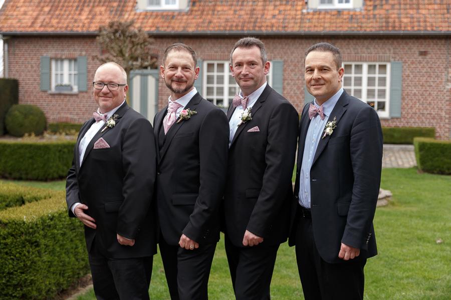 témoins du marié cadre champêtre photographe mariage Nord