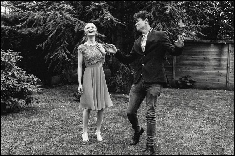garden party mariage photo noir et blanc