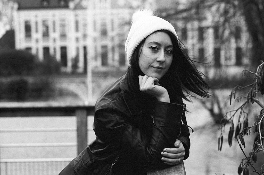 portrait femme Wambrechies noir et blanc projet argentique