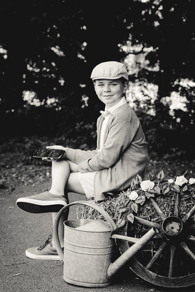 Photos de famille en noir et blanc photographe portrait